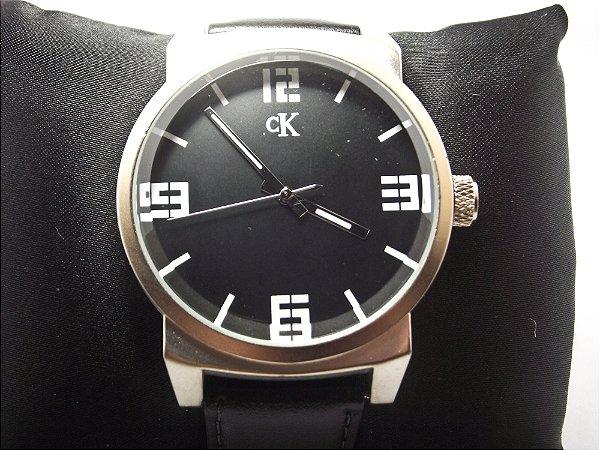 9c0ae6fe2ba20 Relógio Calvin Klein pulseira de couro - WGO.will