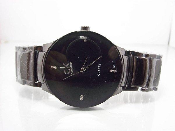 17beb1c0b04 Relógio Calvin Klein PRETO laqueado - WGO.will