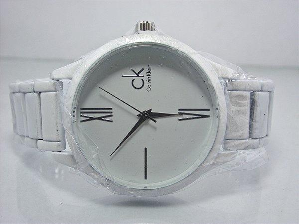 Relógio Calvin Klein BRANCO - WGO.will 23a00f8cc6