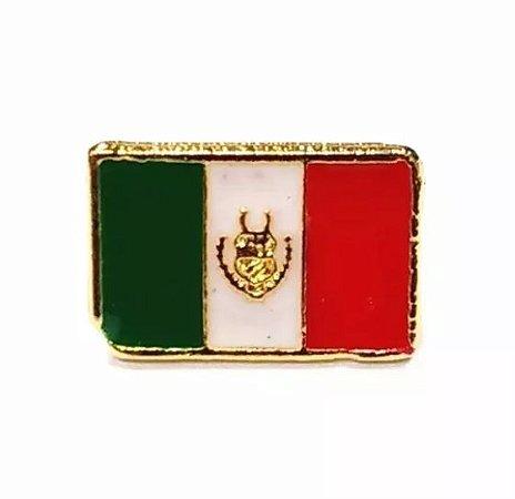 Bótom Pim Broche Bandeira México 13x9mm Folheado A Ouro