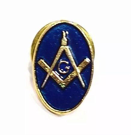 Pim Bótom Broche Maçonaria Azul 15mm Folheado A Ouro Qualidade