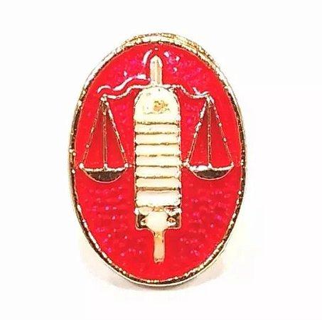 Pim Bótom Broche Chapeado A Ouro Direito Balança Justiça Advogados
