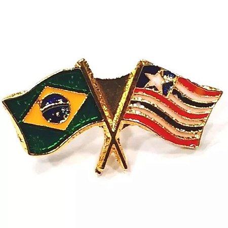 Pim Bótom Broche Bandeira Estado Do Maranhão Folheado A Ouro