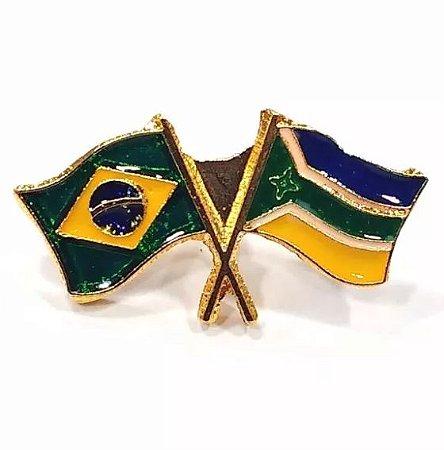 Pim Bótom Broche Bandeira Do Estado Do Amapá Folheado A Ouro
