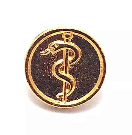 Pim Bótom Broche Medicina Médico Folheado A Ouro Qualidade