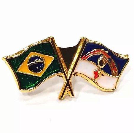Pim Bótom Broche Bandeira Do Estado Do Pernambuco Folheado A Ouro