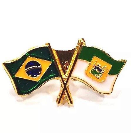 Pim Bótom Broche Bandeira Do Estado Do Rio Grande Do Norte A Ouro