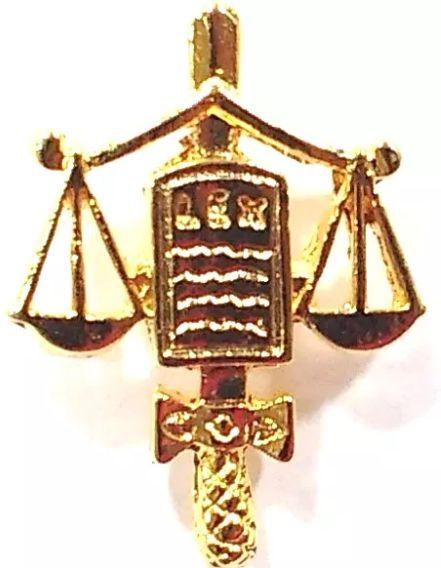 Bótom Broche Pim Folheado A Ouro Direito Para Advogados Juízes