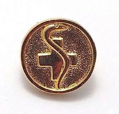 Pim Bótom Broche Pin Enfermagem Enfermeiro Folheado A Ouro