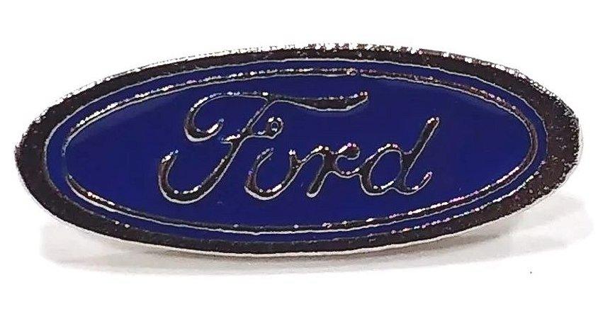 Pim Bótom Broche Pin Ford Folheado À Prata De Qualidade