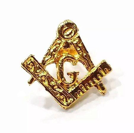 Pim Bótom Broche Maçonaria 13mm Folheado A Ouro De Qualidade
