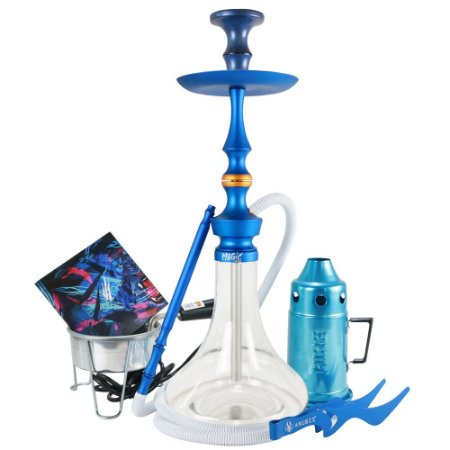 Narguile Magic Mezzo Kit Completo - Azul Vaso Liso