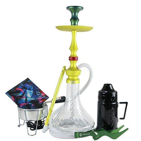 Narguile Magic Mezzo Kit Completo - Verde Vaso Twist
