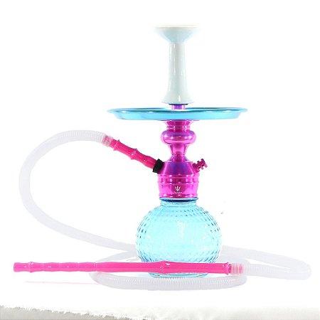 Narguile Triton Zip Completo Barato - Rosa / Azul
