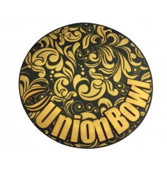 Tapete Union Bowl  Preto com Dourado- Base protetora