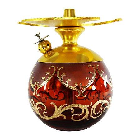 Narguile LittleSorr Egermann - Dourado Vaso Ambar