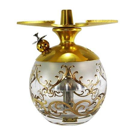 Narguile LittleSorr Egermann - Dourado Vaso Transparente