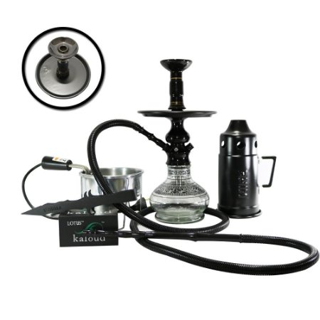 NARGUILE COMPLETO LORD AMAZON HOOKAH - Preto