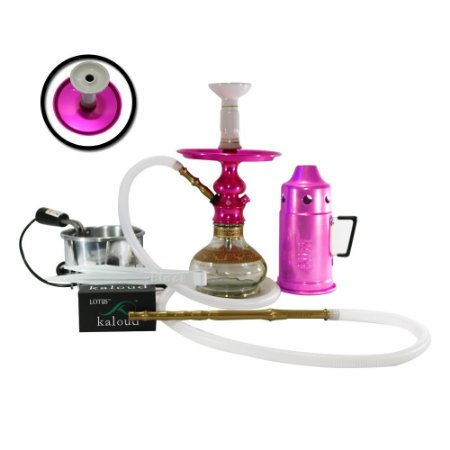 NARGUILE COMPLETO LORD AMAZON HOOKAH - Rosa