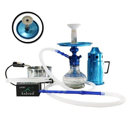 Kit Narguile Triton Zip Completo - Azul