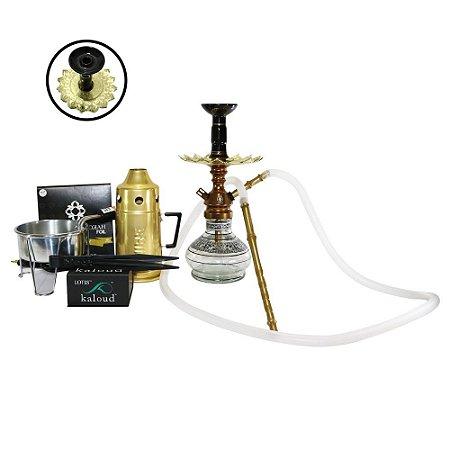 Narguile Anubis Hookah Kit completo- Bronze com Preto