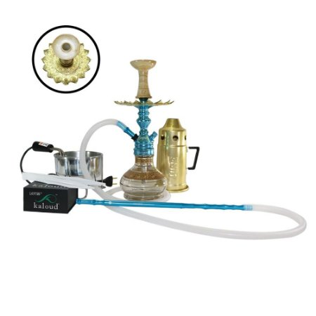 Narguile Completo Empire Hookah King Kit- Azul
