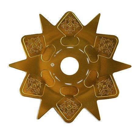 Prato Astéris Amazon Hookah - Dourado