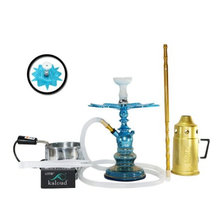 Narguile Kini Colors Sultan Hookah Completo Kit - Azul