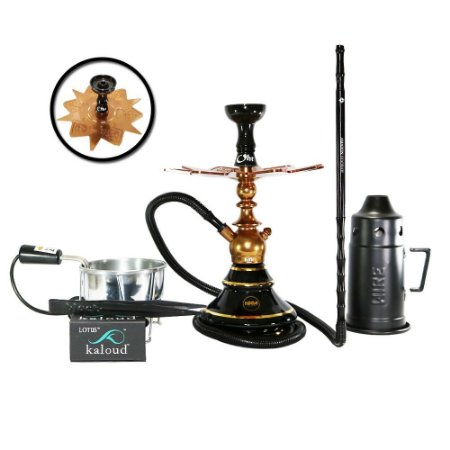 Narguile Kini Colors Sultan Hookah Completo Kit - Bronze