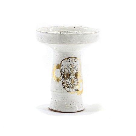 Rosh Beta Bowl  - Caveira Gold - Branco