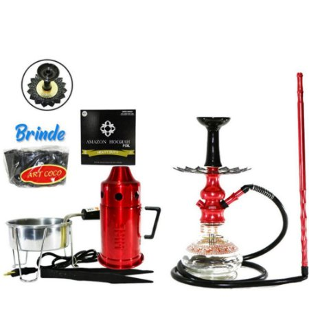 Narguile  Amazon Hookah Lord  Completo  -Vermelho