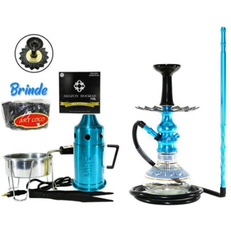 Narguile  Amazon Hookah Lord  Completo  - Azul