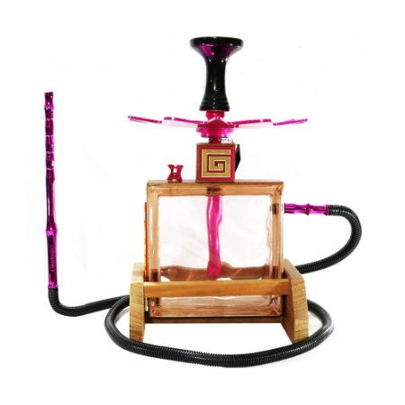 Narguile Completo Pequeno Kubo Hookah - Rosa