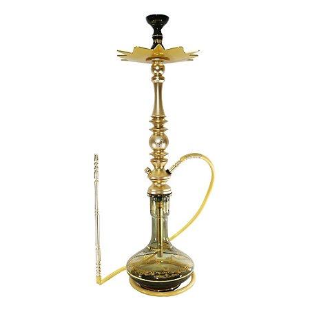 Narguile Completo Grande Mani Sultan Plus - Dourado