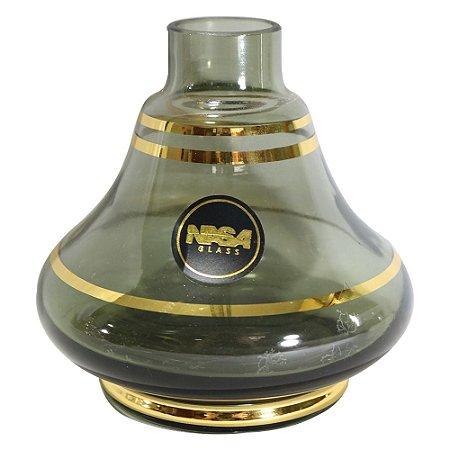 Vaso Nasa Glass Pequeno 31a Gold - Fume