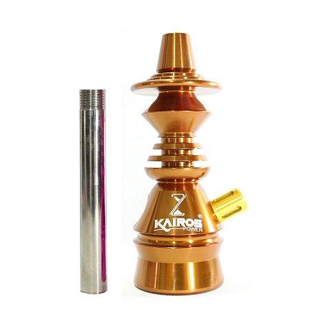 Stem Narguile Kairos Power - Bronze com Dourado