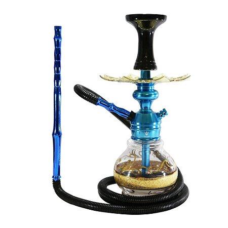 Narguile Triton Zip Completo Vaso Handouss - Azul