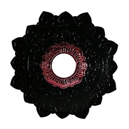 Prato Negro Grande Urso Hookah- Preto com miolo Vermelho