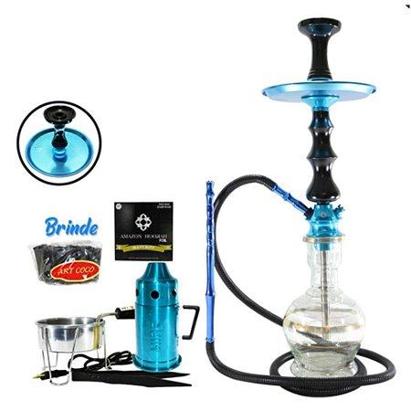 Narguile Amazon Pride Kit Completo- Azul/ Preto