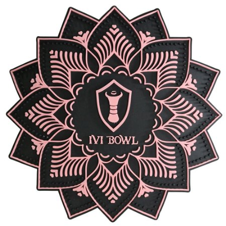 TAPETE BASE PROTETORA IVI BOWL - PRETO/ROSE