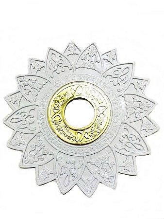 Prato Infinite Neo V2 Grande - Branco com Dourado