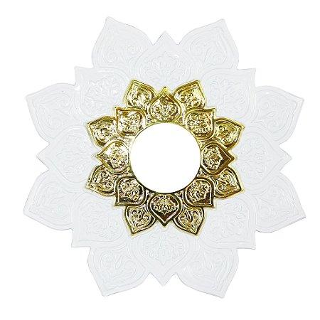 Prato Narguile Pequeno Jn Zeus - Branco