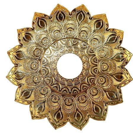Prato Narguile  Jn Athenas Grande - Dourado