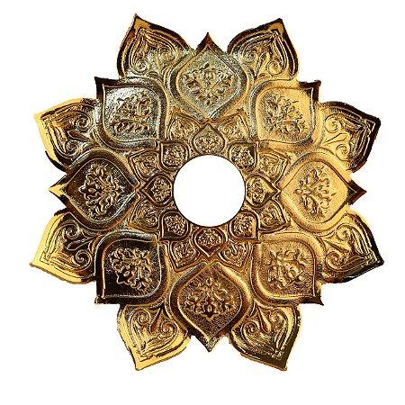 Prato Narguile Pequeno Jn Zeus  Grande - Dourado