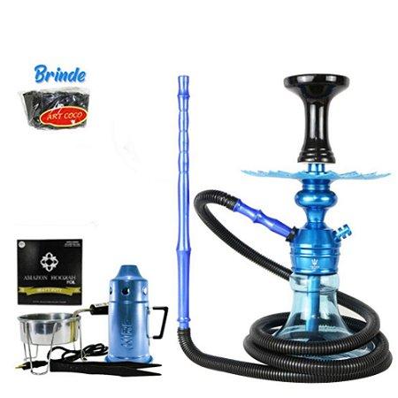 Kit Narguile Completo Triton + Brinde - Azul
