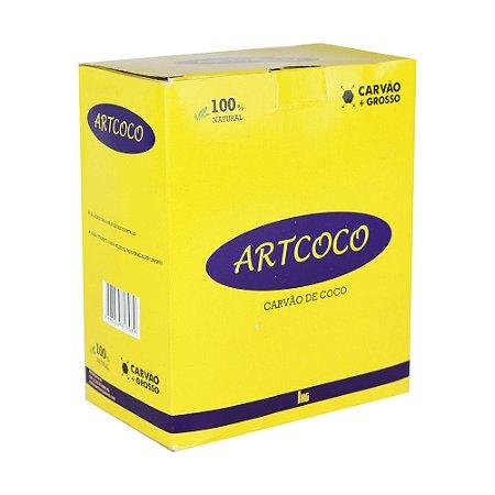 Carváo de Coco Hexagonal Art Coco - Grosso