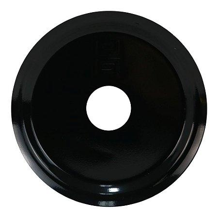 Prato Médio Black Hookah Para Narguile -  Preto