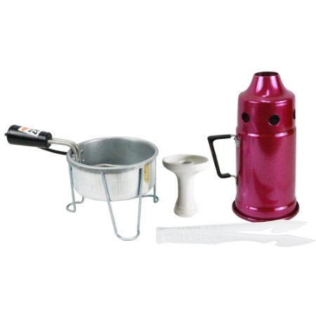 Kit Abafador Rosa+ Rosh Shisha Glass + Pegador Black Branco + Acendedor Art Coco