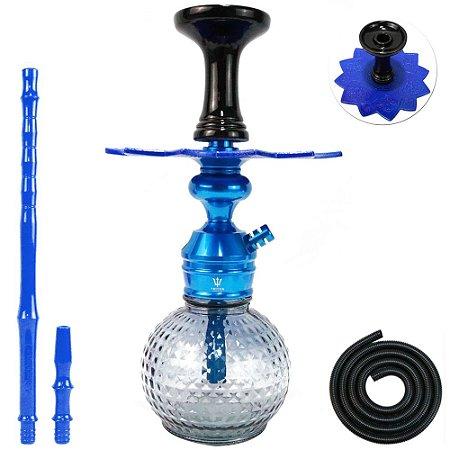 Narguile Triton Zip Completo Bambino - Azul com Fume