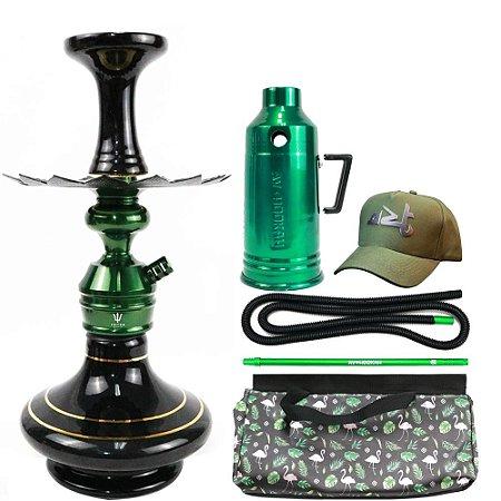 Narguile Triton Zip com Bolsa e Boné - Verde